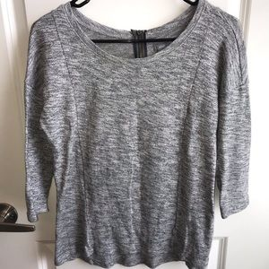 Grey Fit and Flare Top